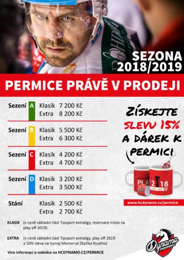 Nabídka permic pro HC Dynamo Pardubice